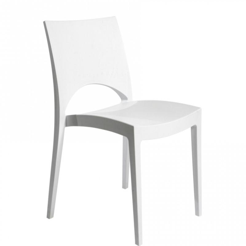 Sedia bianca torino noleggio torino noleggio for Sedia design bianca